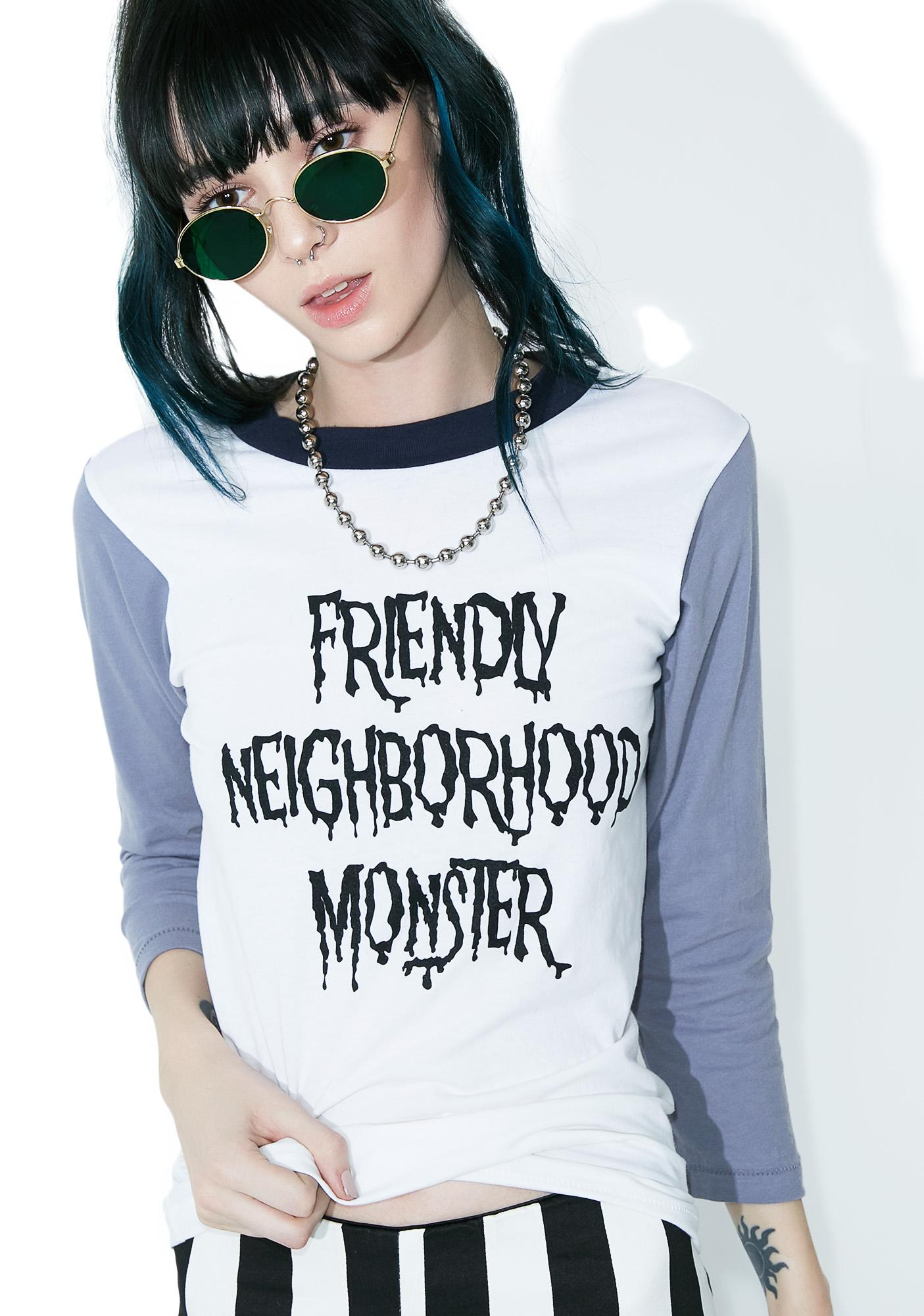 Local Boogeyman Friendly Neighborhood Monster Raglan Tee