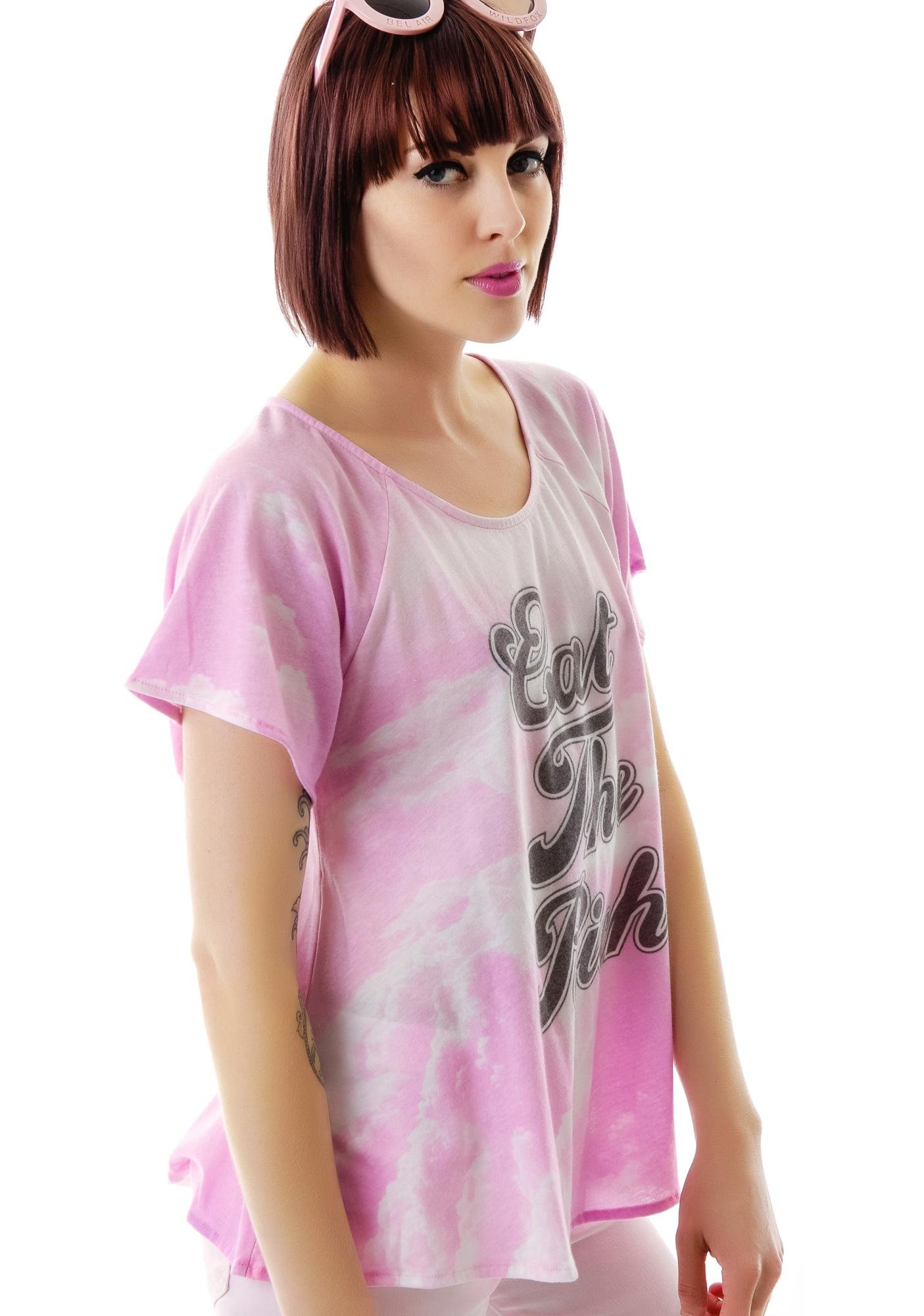 Wildfox Couture Eat the Rich Banquet Tee