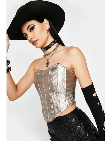 Slate Wicked Winds Corset Top