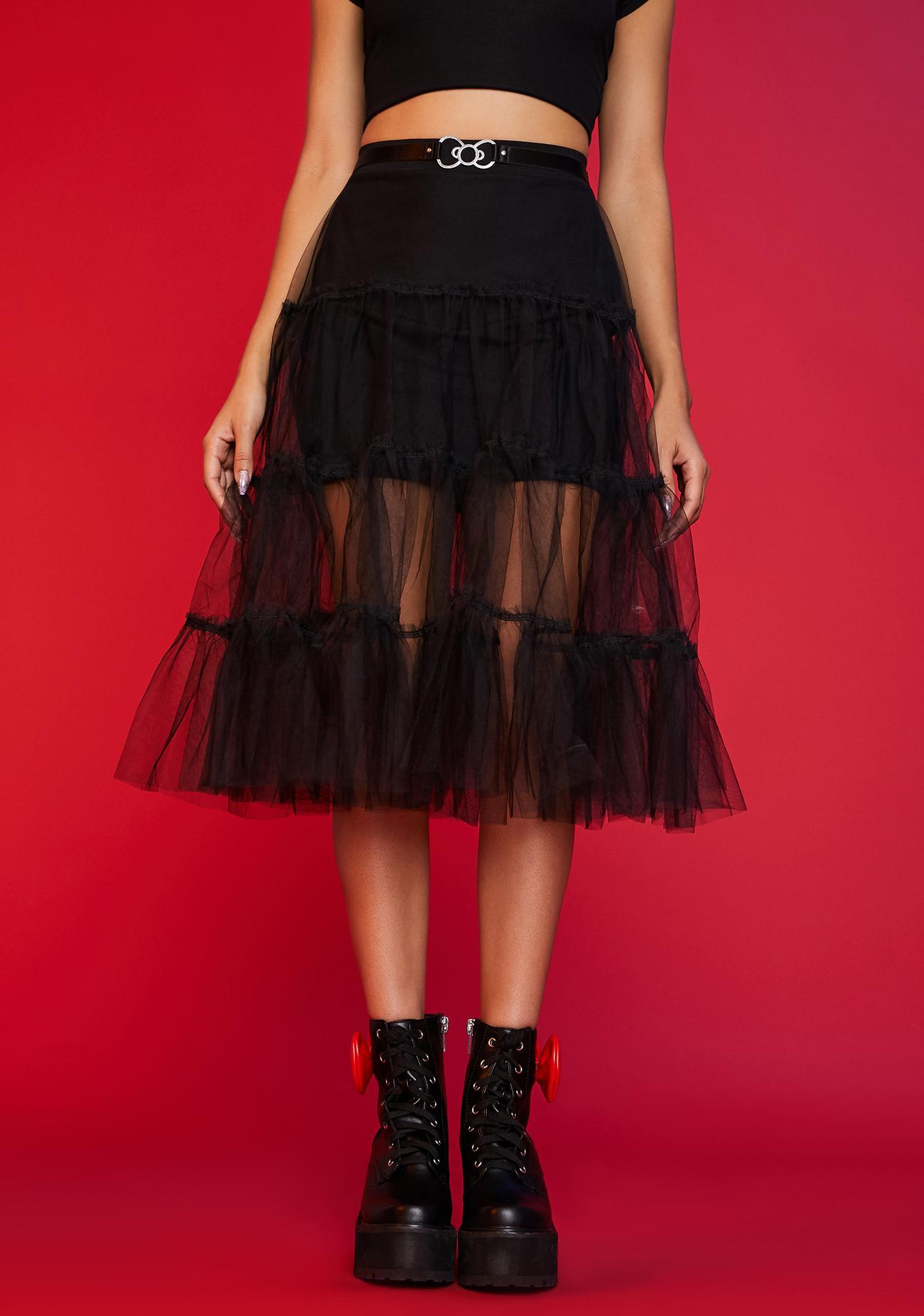 Dolls Kill x Hello Kitty Everything I Wanted Mesh Midi Skirt