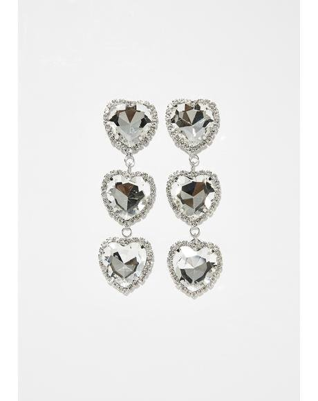 Dazzling Jewel Heart Earrings