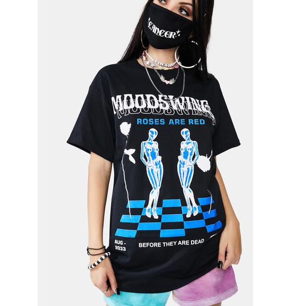 MOODSWINGS Roses Are Red Short Sleeve Graphic Tee