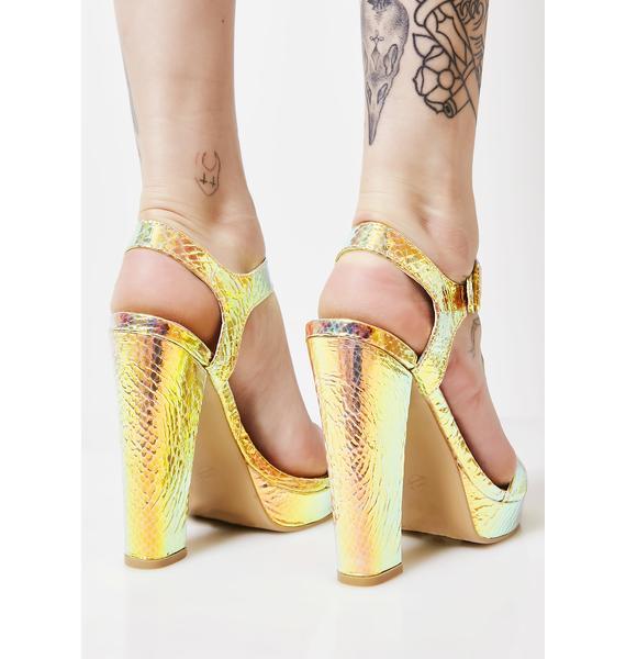 Holo Back Holographic Heels