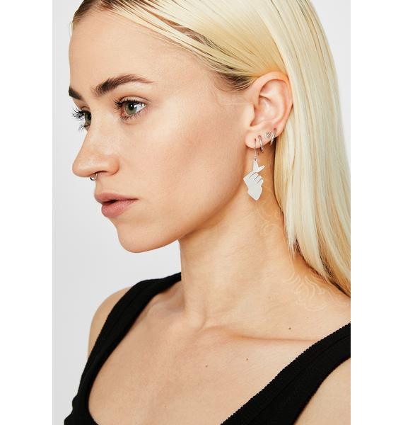 Sis Snapped Drop Earrings