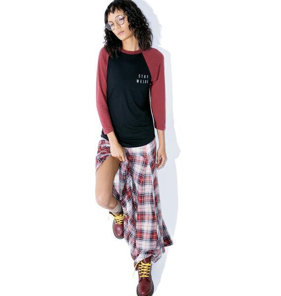 Lira Clothing Stay Weird Raglan Tee