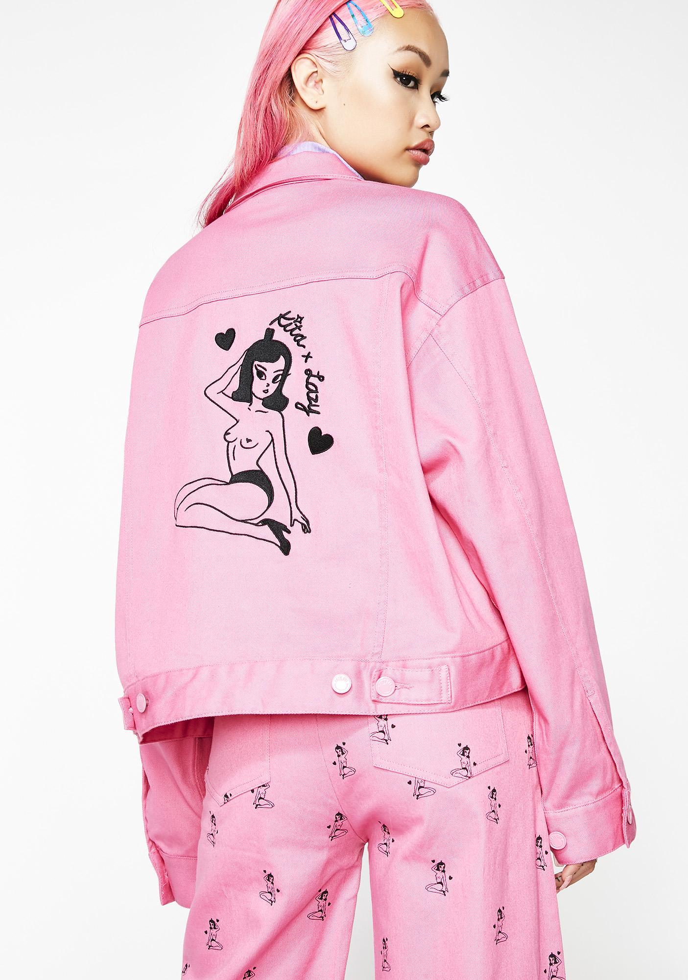 Lazy Oaf Kita Cropped Workwear Jacket