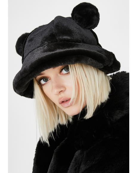 Night Polar Posh Fuzzy Bucket Hat