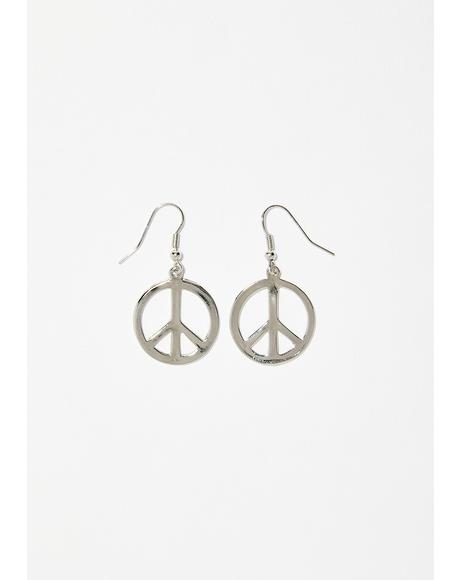 Peace Out Earrings
