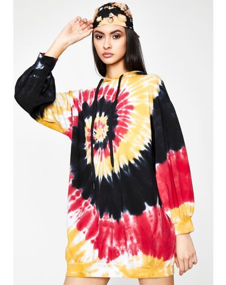 Born To Dye Hoodie Dress
