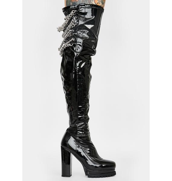 AZALEA WANG Jenny Thigh High Boots