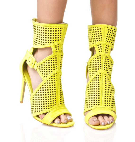 Sun Dipped Cut-Out Heels