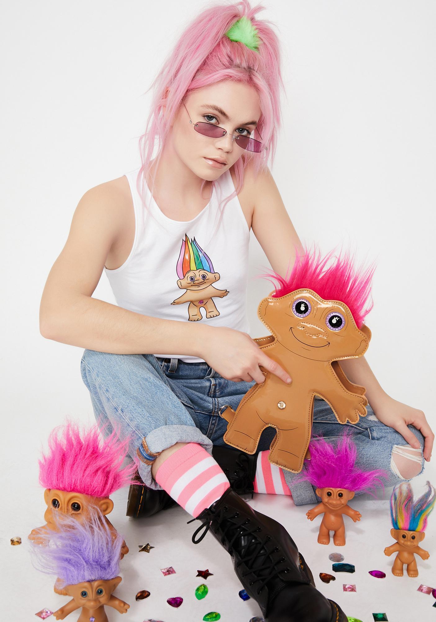 Good Luck Trolls x Dolls Kill Troll Mini Backpack