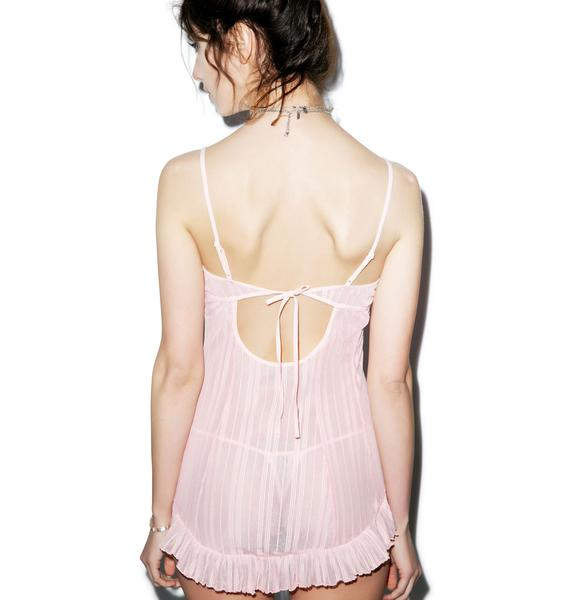 Pretty In Pink Chemise Set