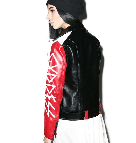 Black Scale Blvck Goddess Moto Jacket