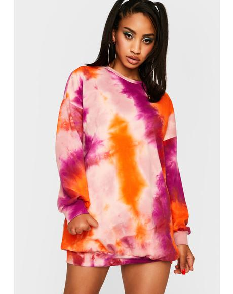 Love Chasing Daybreak Tie Dye Dress
