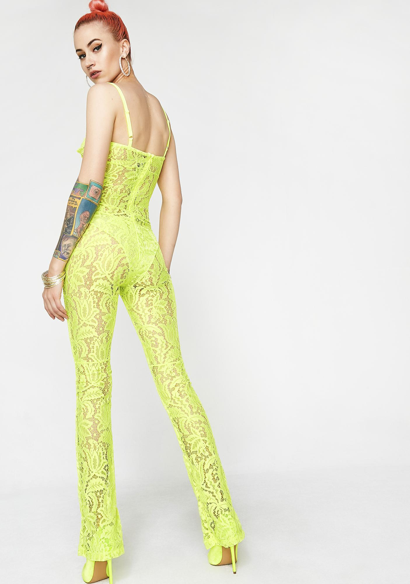 Matte Sunny Siren Lace Full Bodysuit