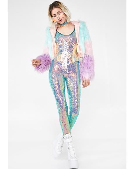 Opal Dreamer Sequin Catsuit