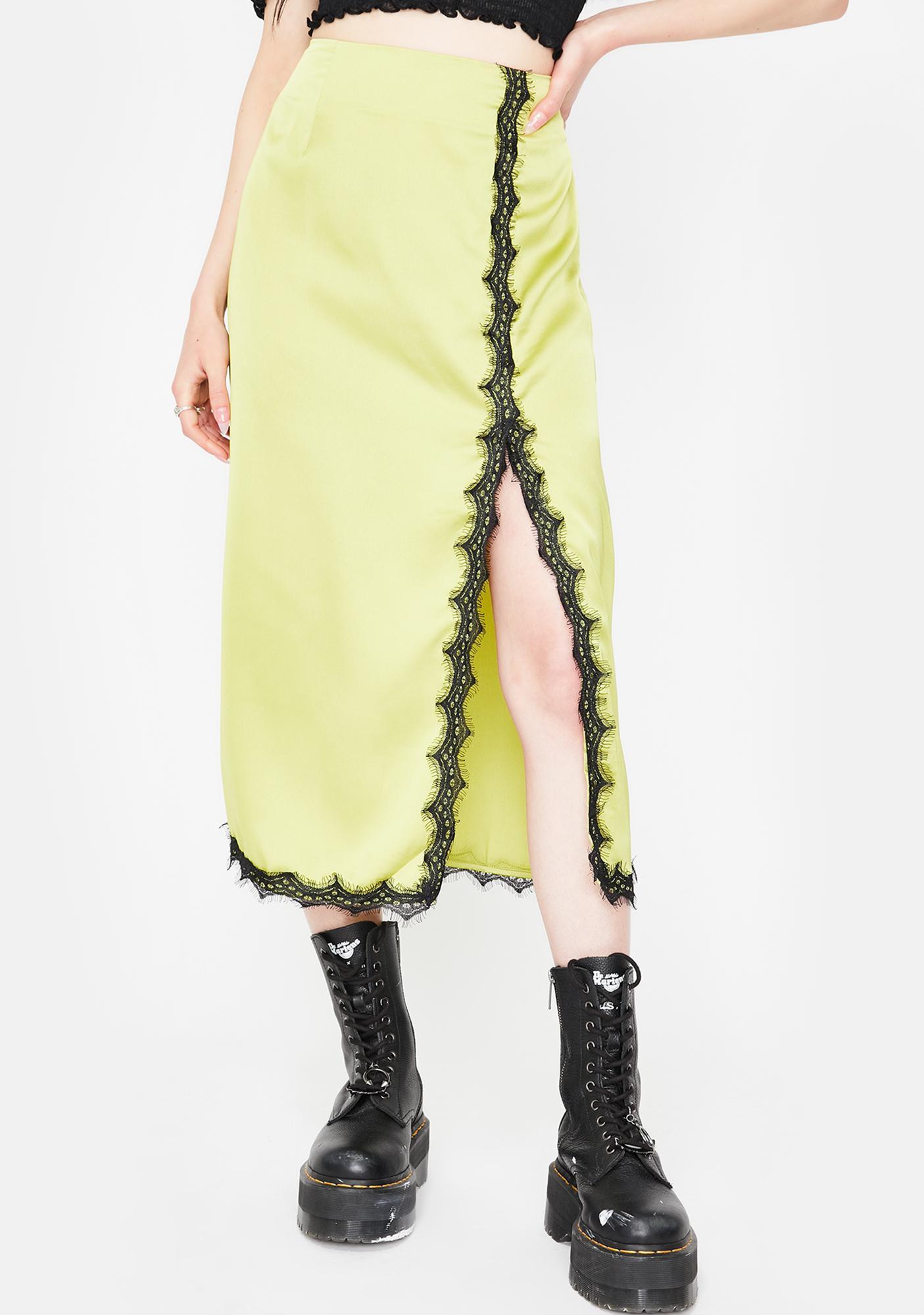 Twiin Apple Tryst Midi Slip Skirt