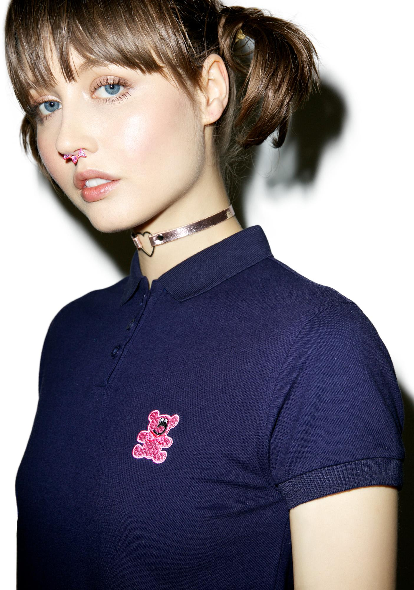 Lazy Oaf Bear Polo Shirt