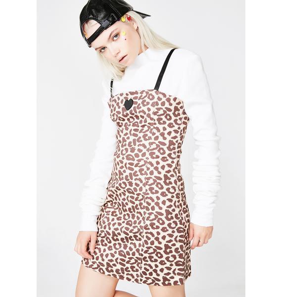 Lazy Oaf Leopard Heart Dress