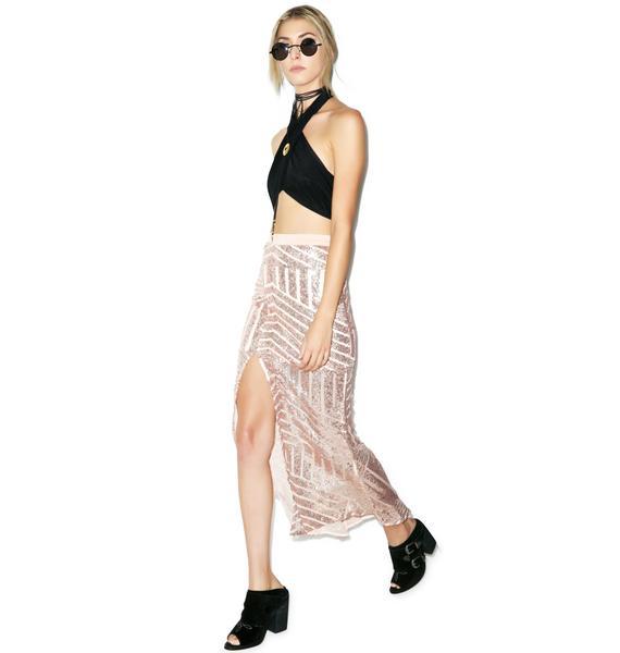 Tiger Mist Girl Around Town Sequin Skirt