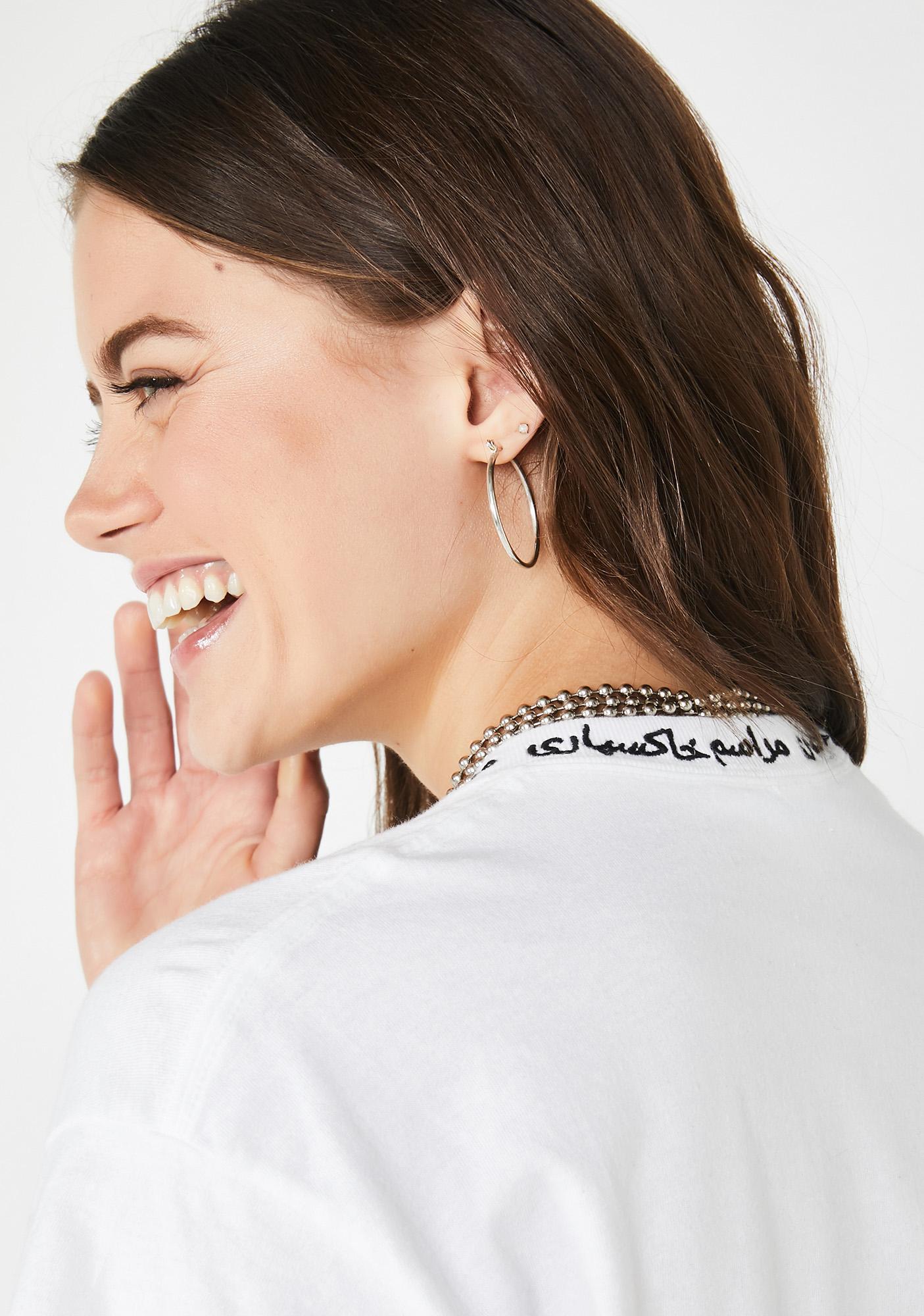 Funeral Farsi Embroidered Logo Collar Tee