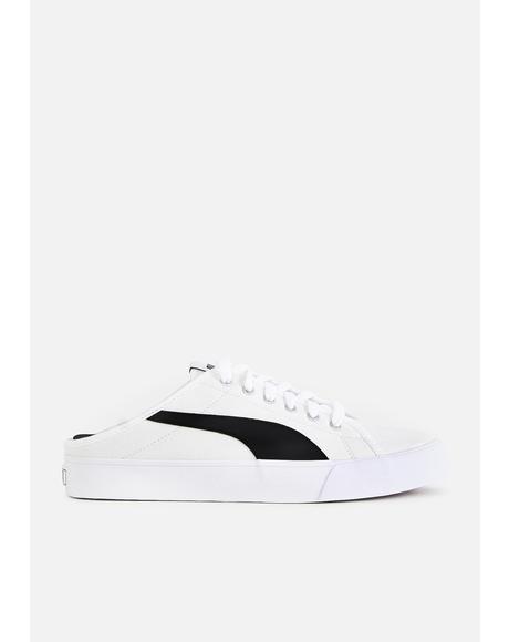 White Bari Mule Sneakers