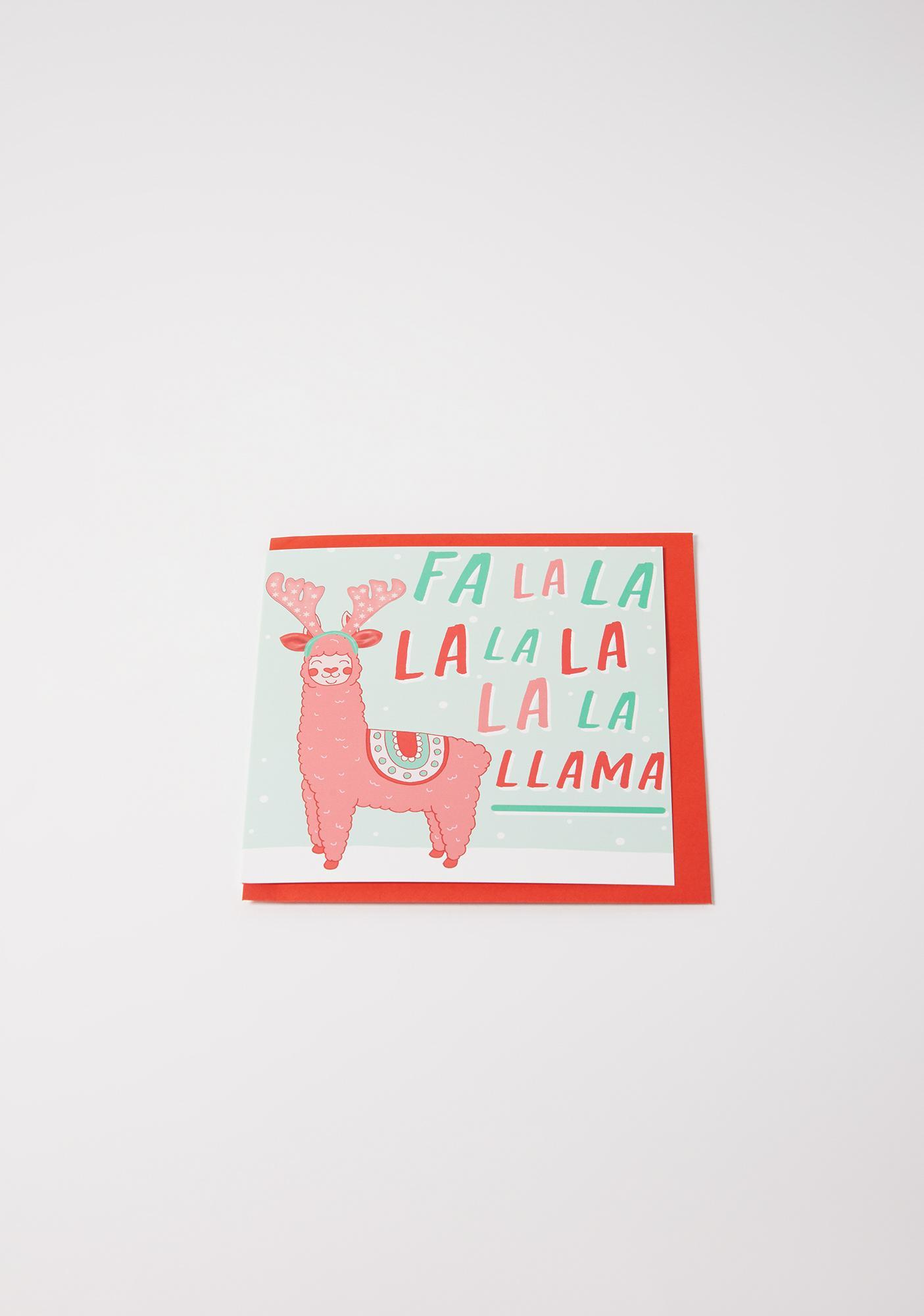 Central 23 Fa La La Llama Greeting Card