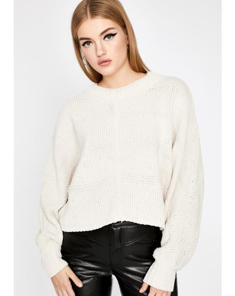 Boo So About It Cropped Sweater