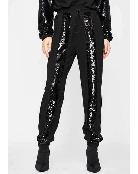 Doin' The Most Sequin Joggers