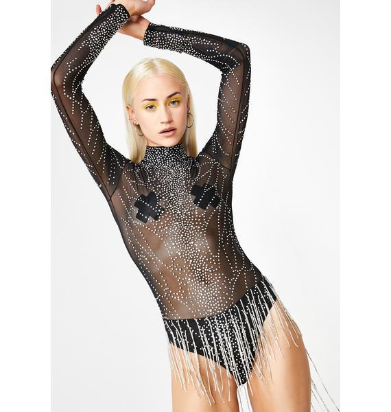Kiki Riki Rhinestone Rave Babe Bodysuit