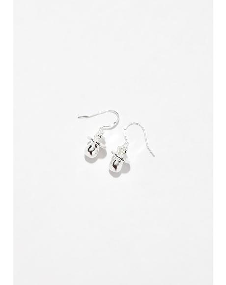Sucka Free Binky Earrings
