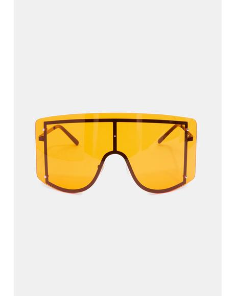 Tangerine Big Dreams Oversized Sunglasses