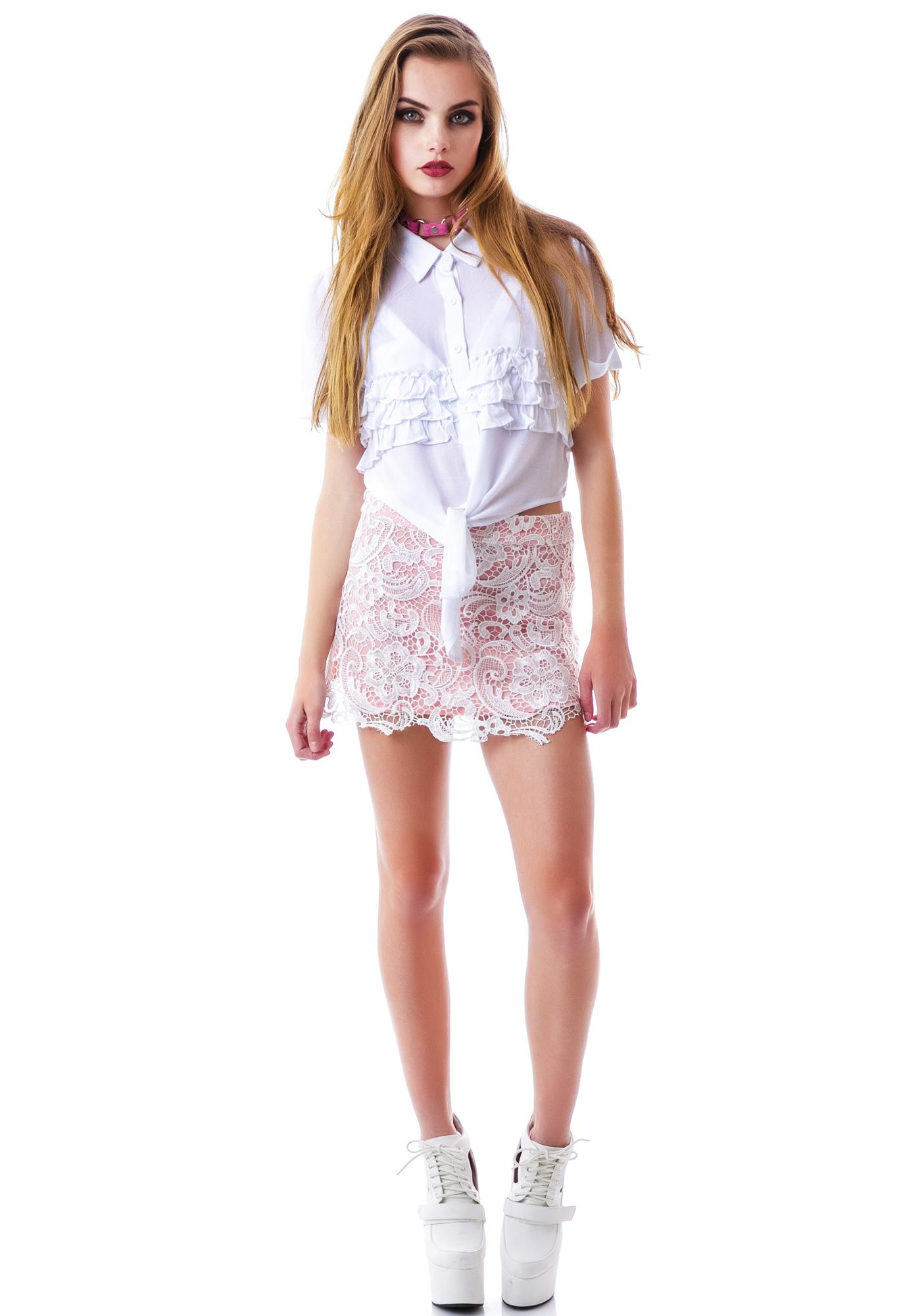 The Great Lace Mini Skirt