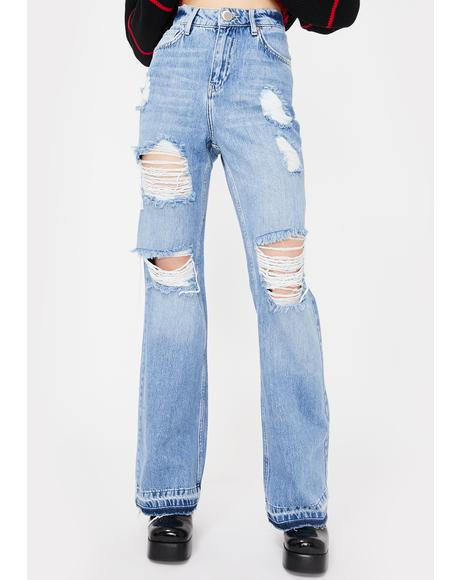 Storm Child Dropped Baggy Flare Jeans
