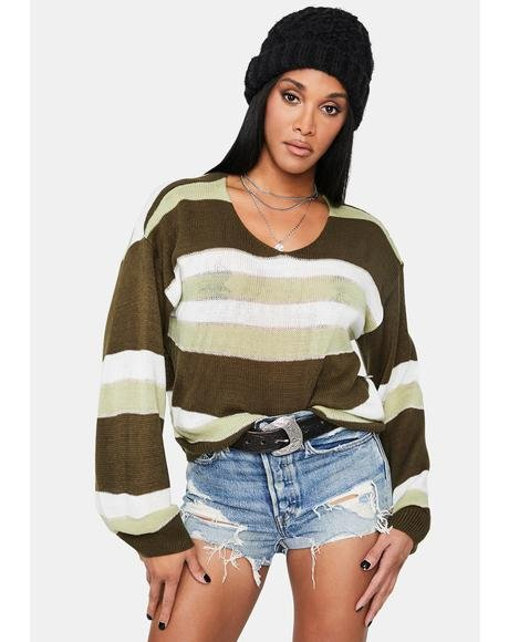 Deceitful Nature Striped Sweater