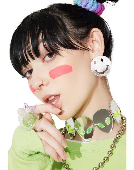 Get Happy Smiley Face Earrings