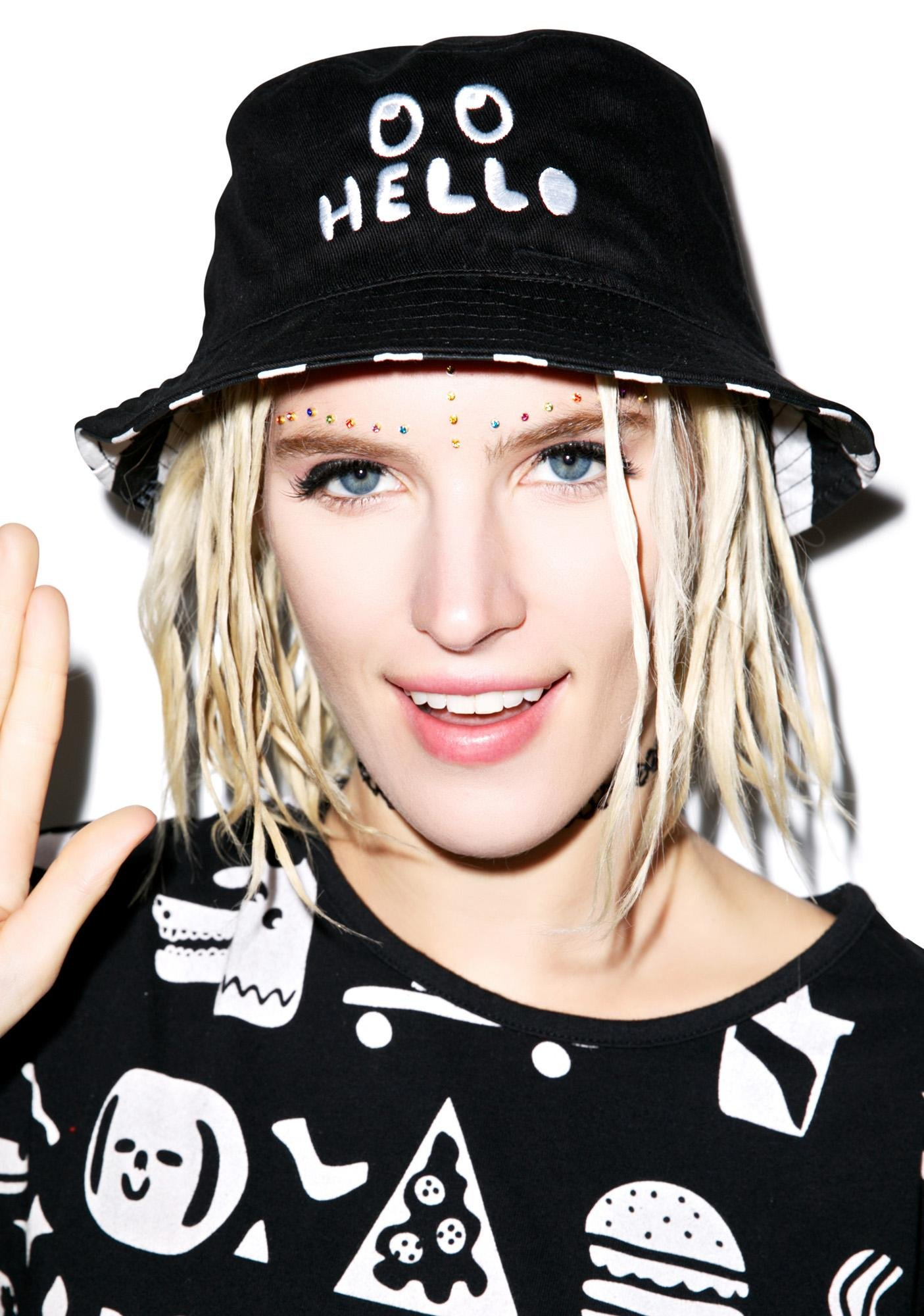 Lazy Oaf Hello Bucket Hat