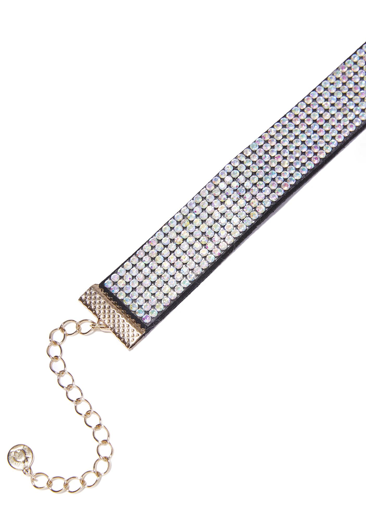 Betta Have My Money Rhinestone Choker