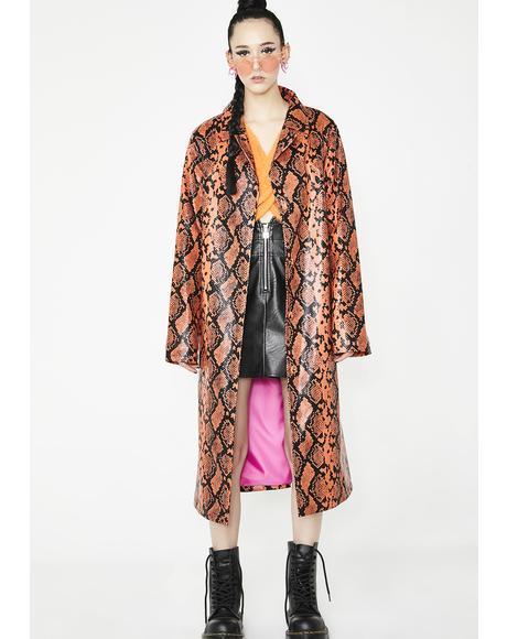 Vinyl Long Coat