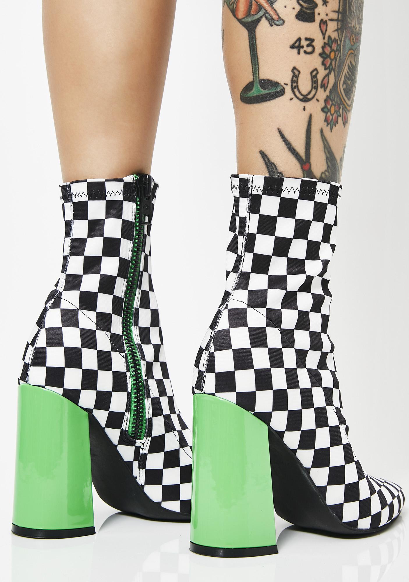 Current Mood Check Yo Self Sock Boots