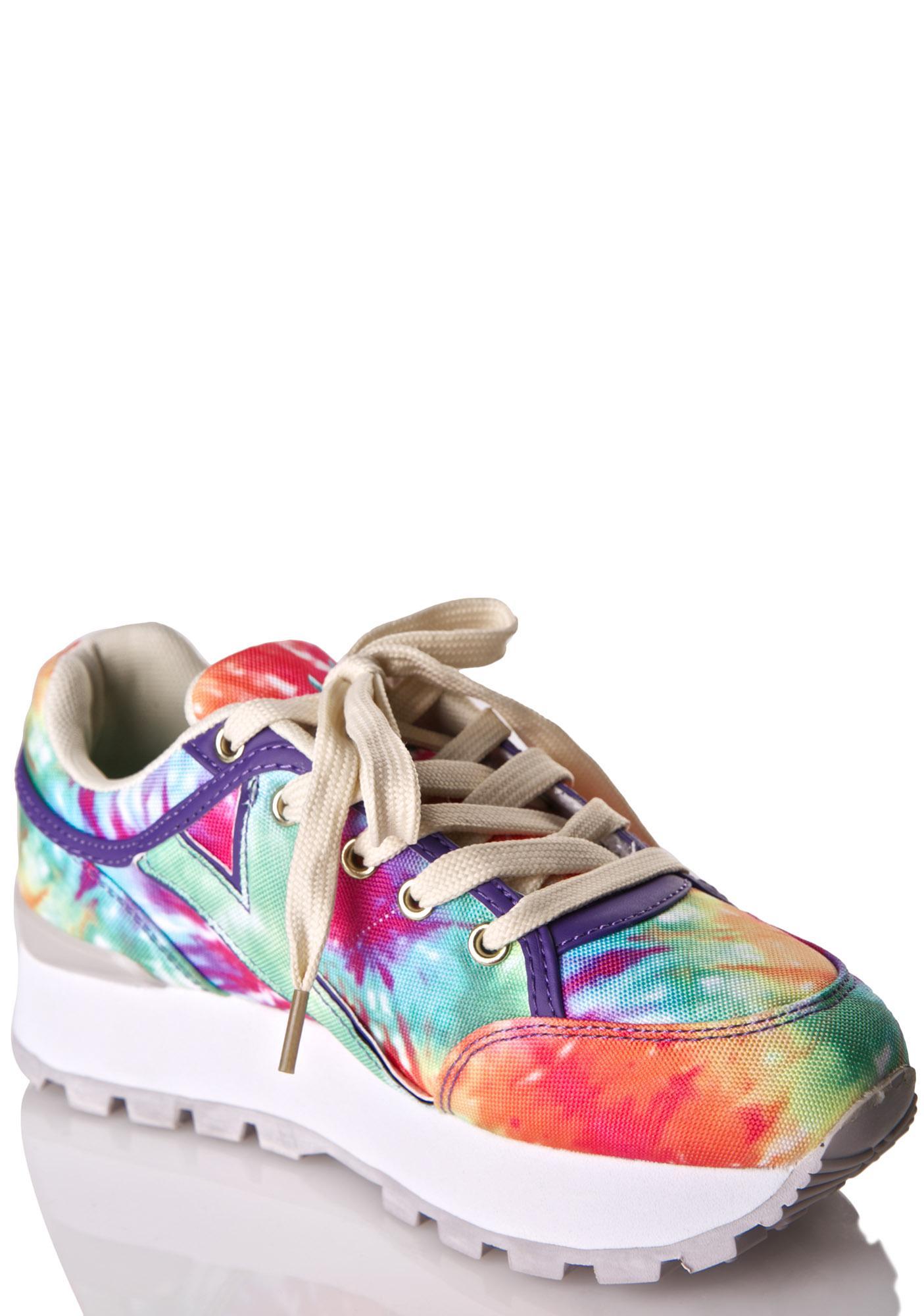 ... Y.R.U. Tune Rainbow Tie Dye Sneakers ...