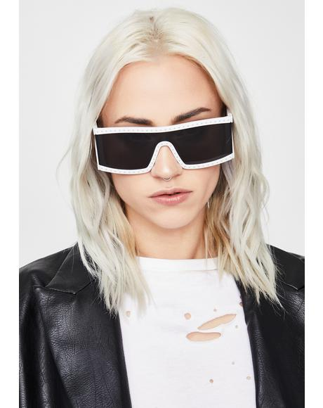 Saintly Scarlet Starlet Shield Sunglasses