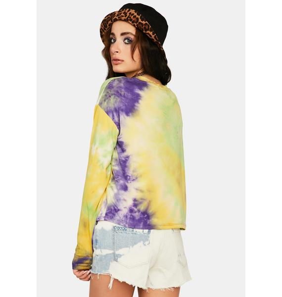 On The Up Tie Dye Top