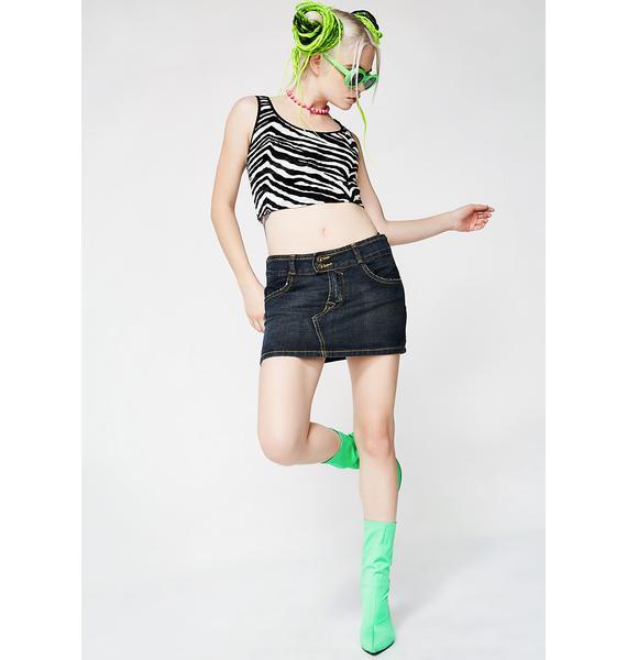 Vintage Von Dutch Denim Skirt