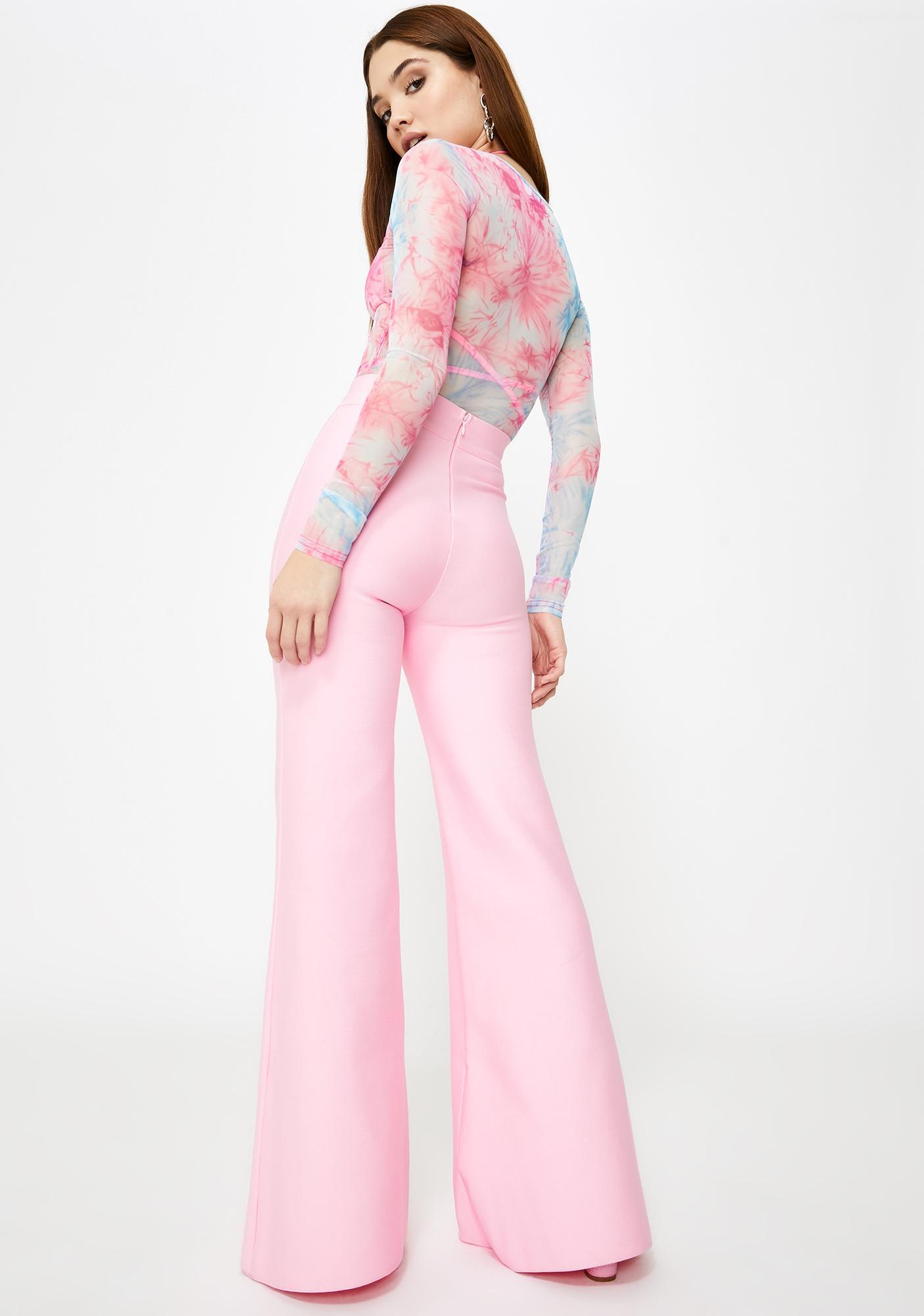 Tiger Mist Pink Sylvia Flared Pants