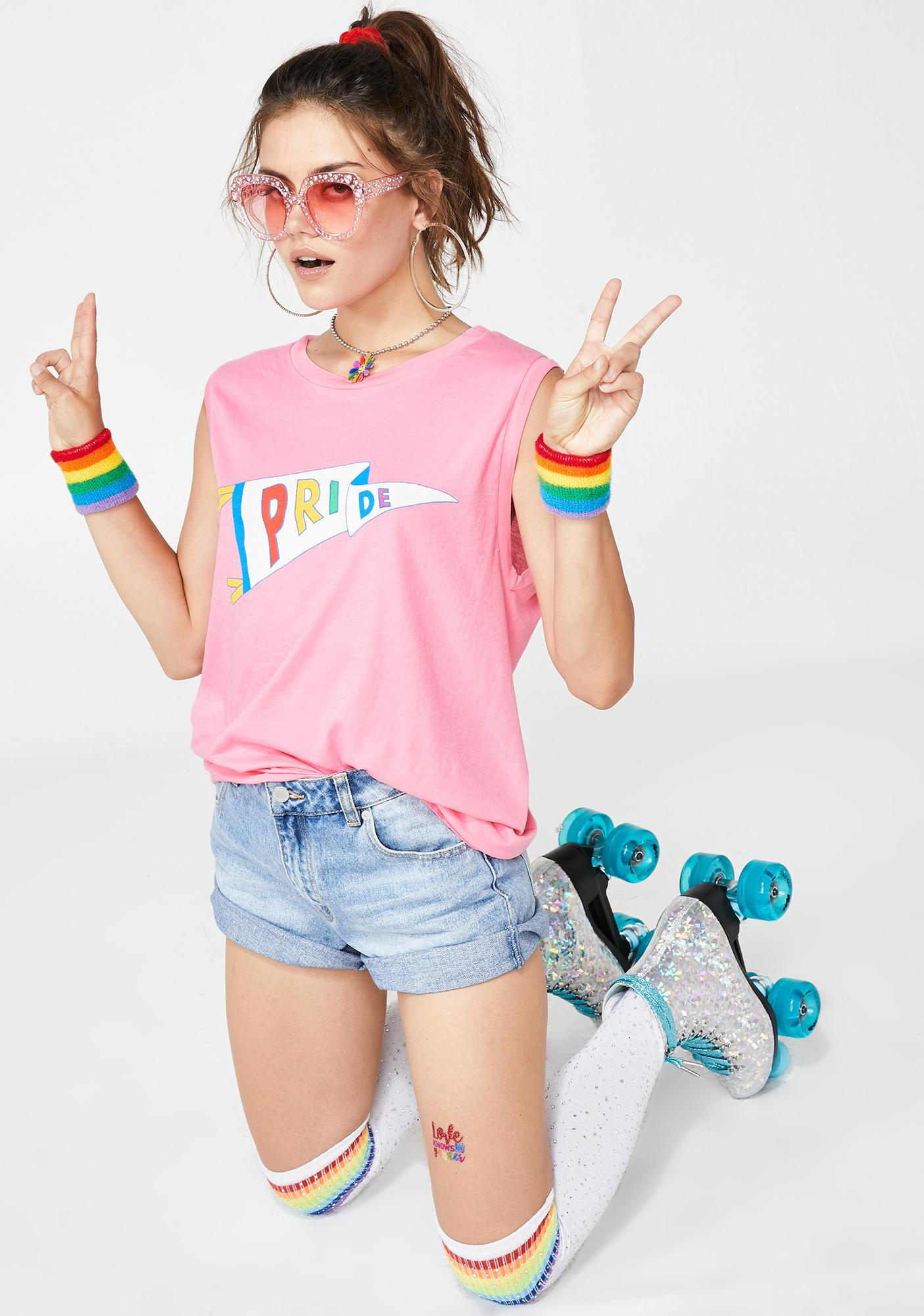 Wildfox Couture Pride Flag Muscle Tank