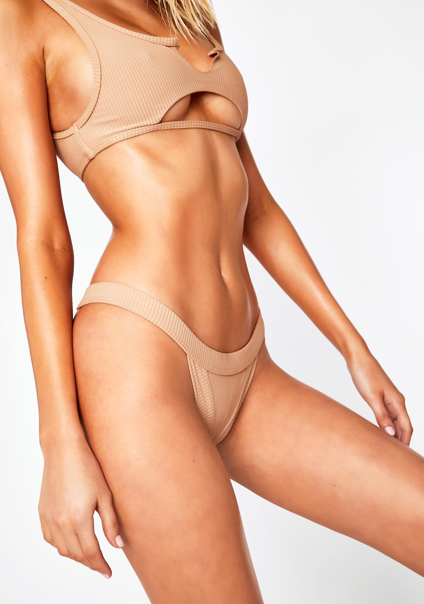 Frankies Bikinis Nude Cole Bikini Bottoms