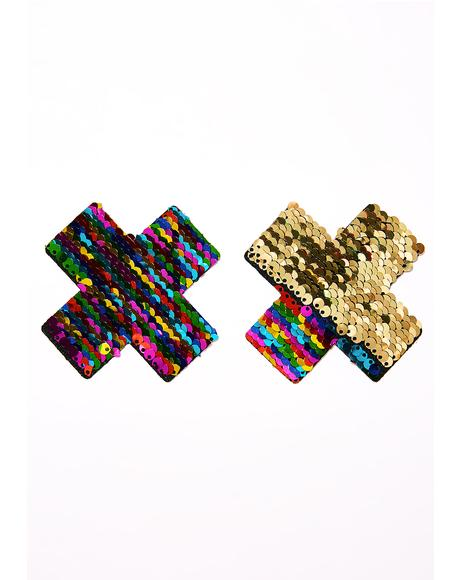 Rainbow X Sequin Pasties