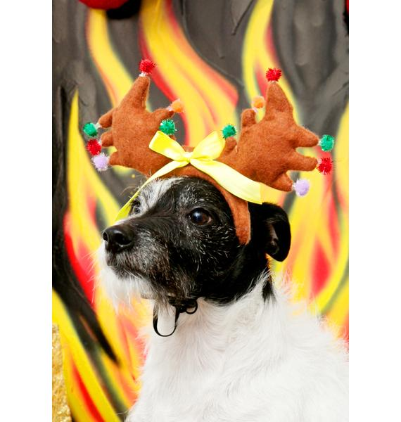 Guide My Sleigh Light-Up Dog Headband